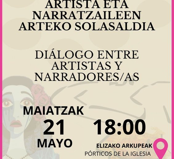 Dialogue between artists and storytellers, Andoain